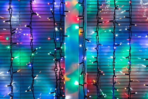 Fairy Lights as Curtain Décor