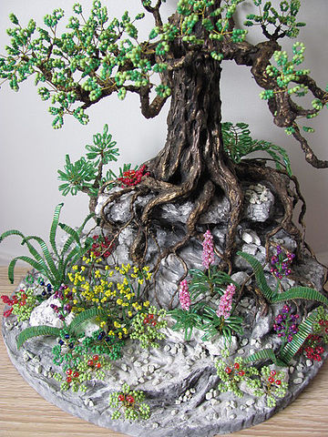 How to Create a Rocky Cliff Base for a Beaded Bonsai Tree