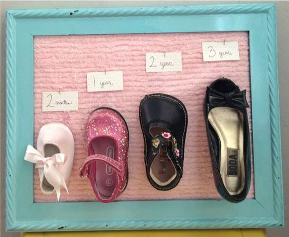 Baby shoe growth chart
