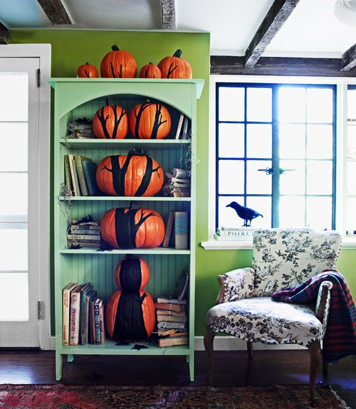 create-a-pumpkin-bookshelf-tree