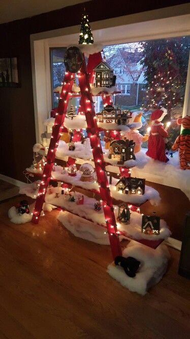 Christmas lighthearted ladder