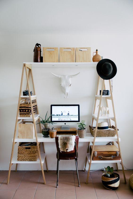 Ladder storage idea