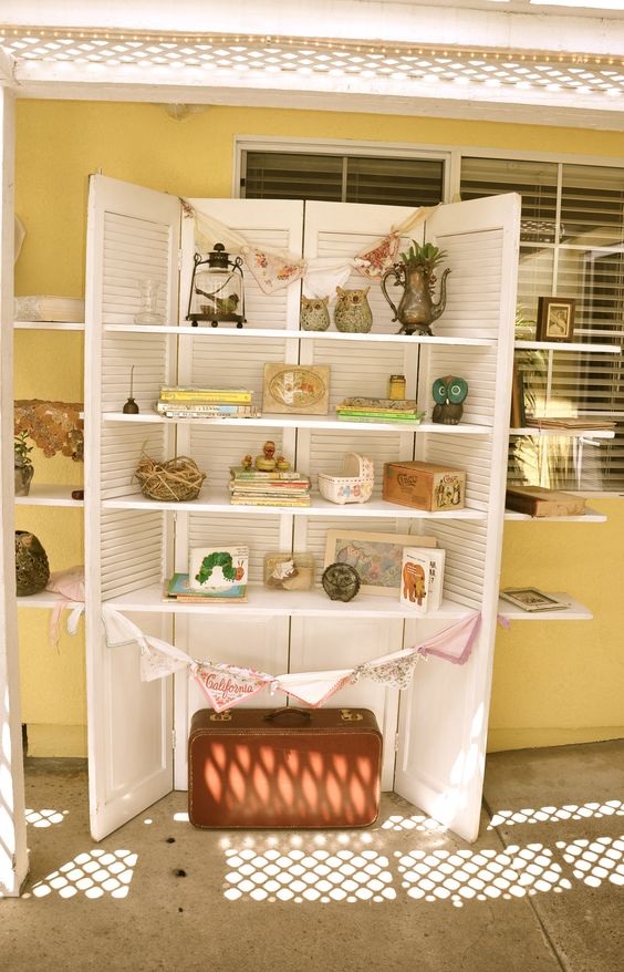 Shutters and shelves