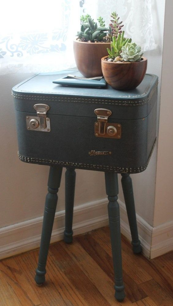 Table suitcases