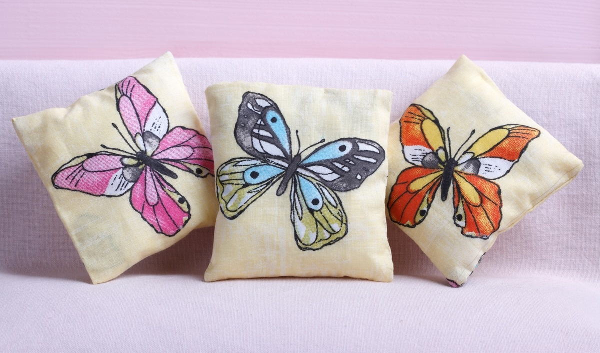 A butterfly pillowcase