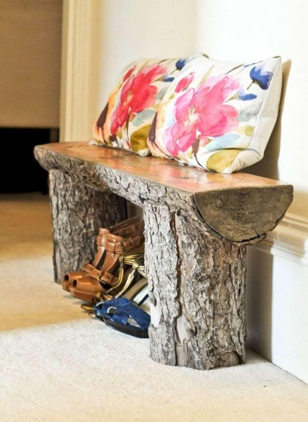 A log bench