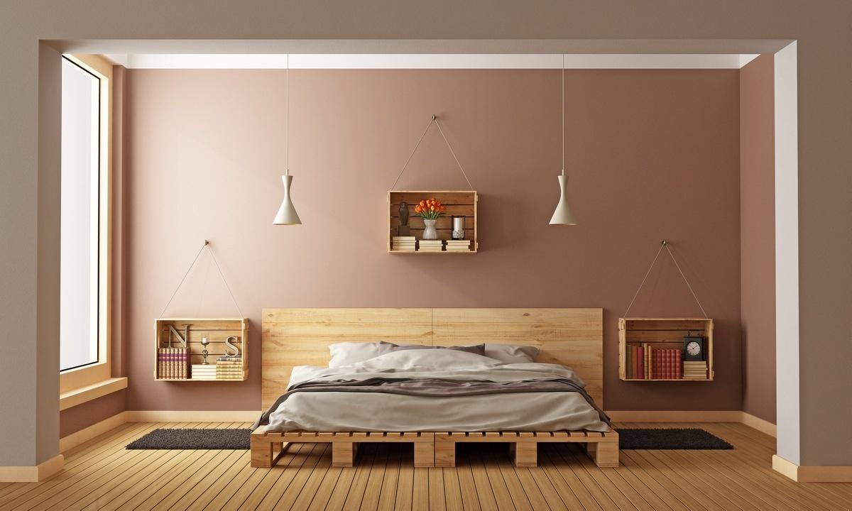 Make a hanging nightstand