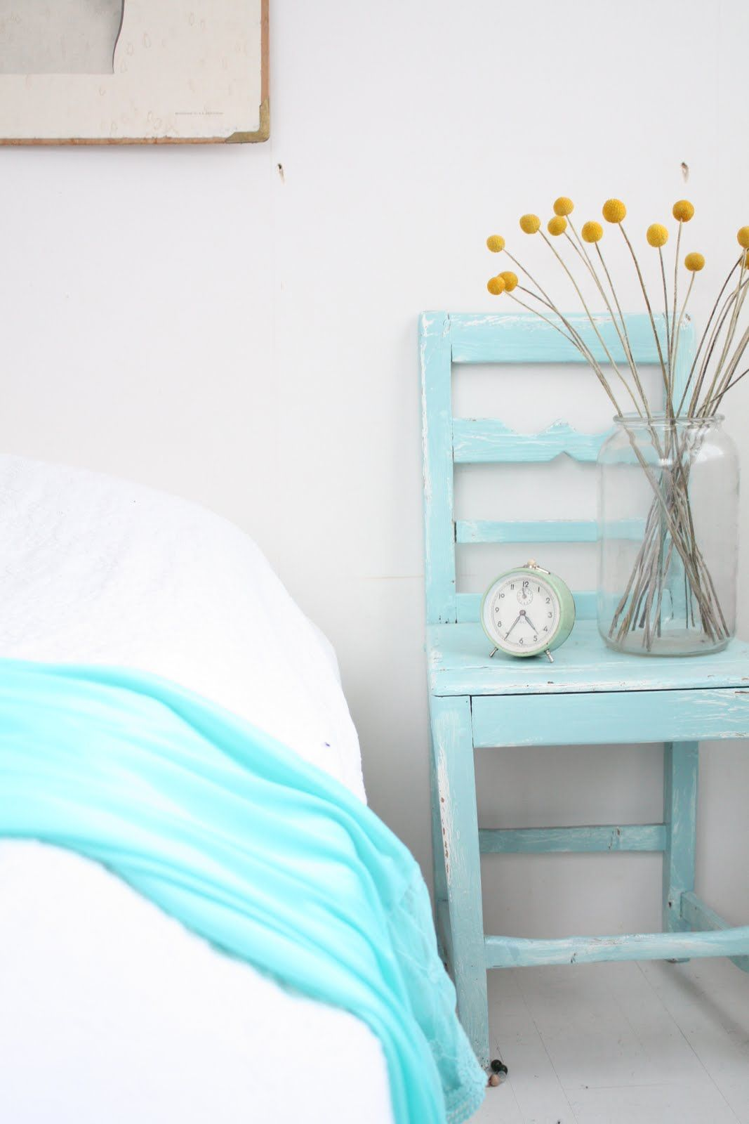 The nightstand that disappears into the wall
