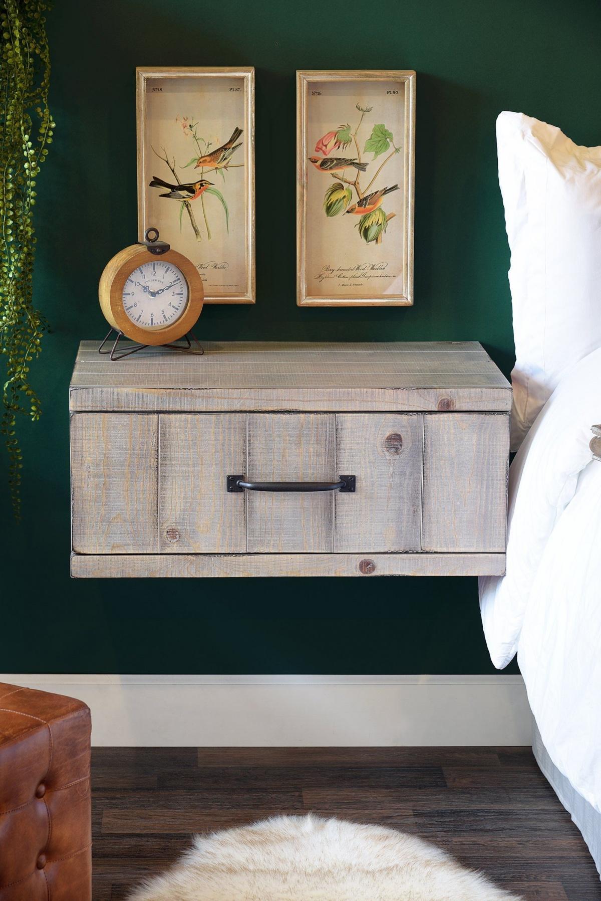 Wall-mount your nightstand