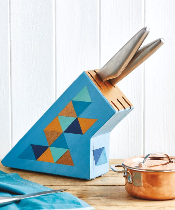 Paint Your Knife Block