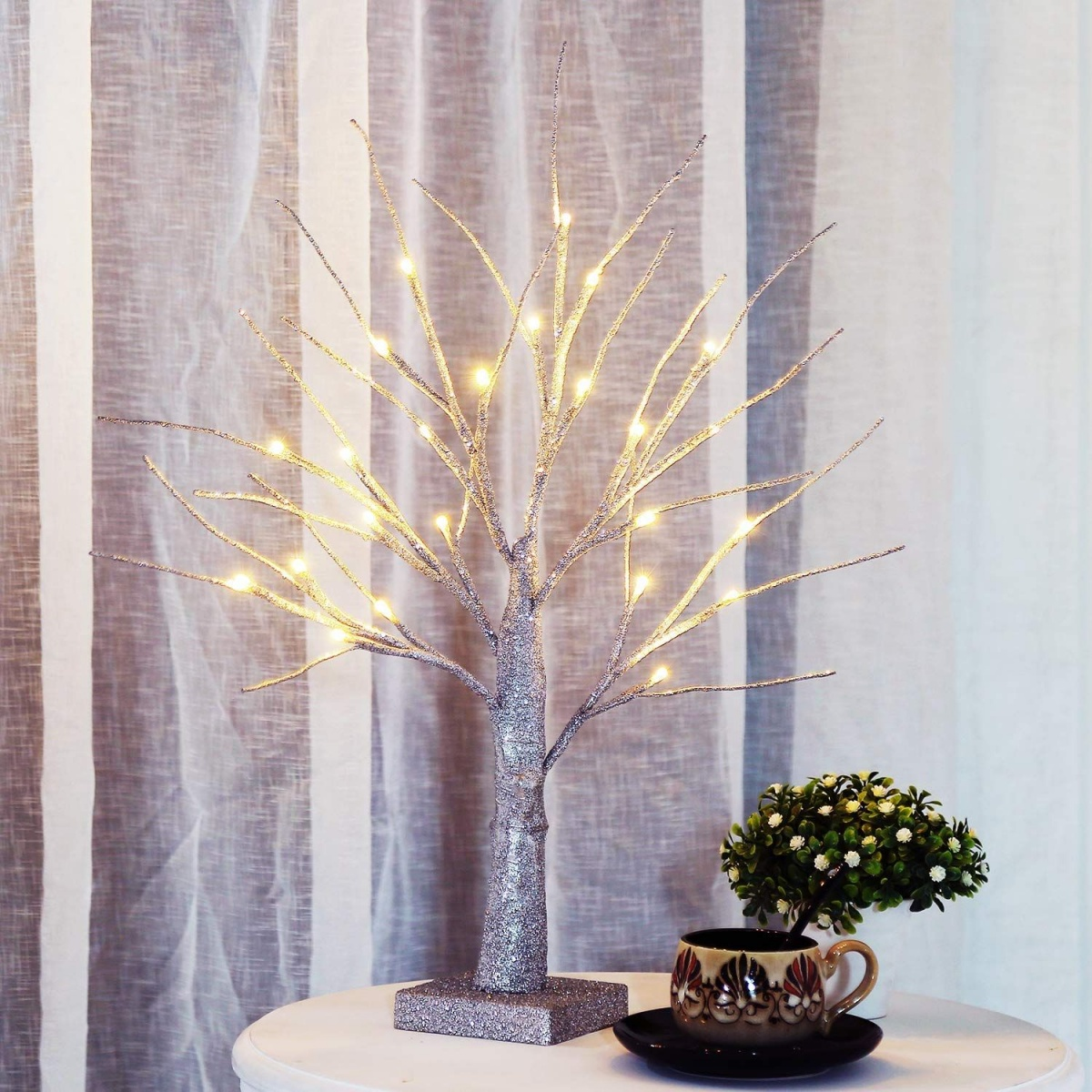 Artificial tree with lights 10 Fun Nightlights for Your Child's Room