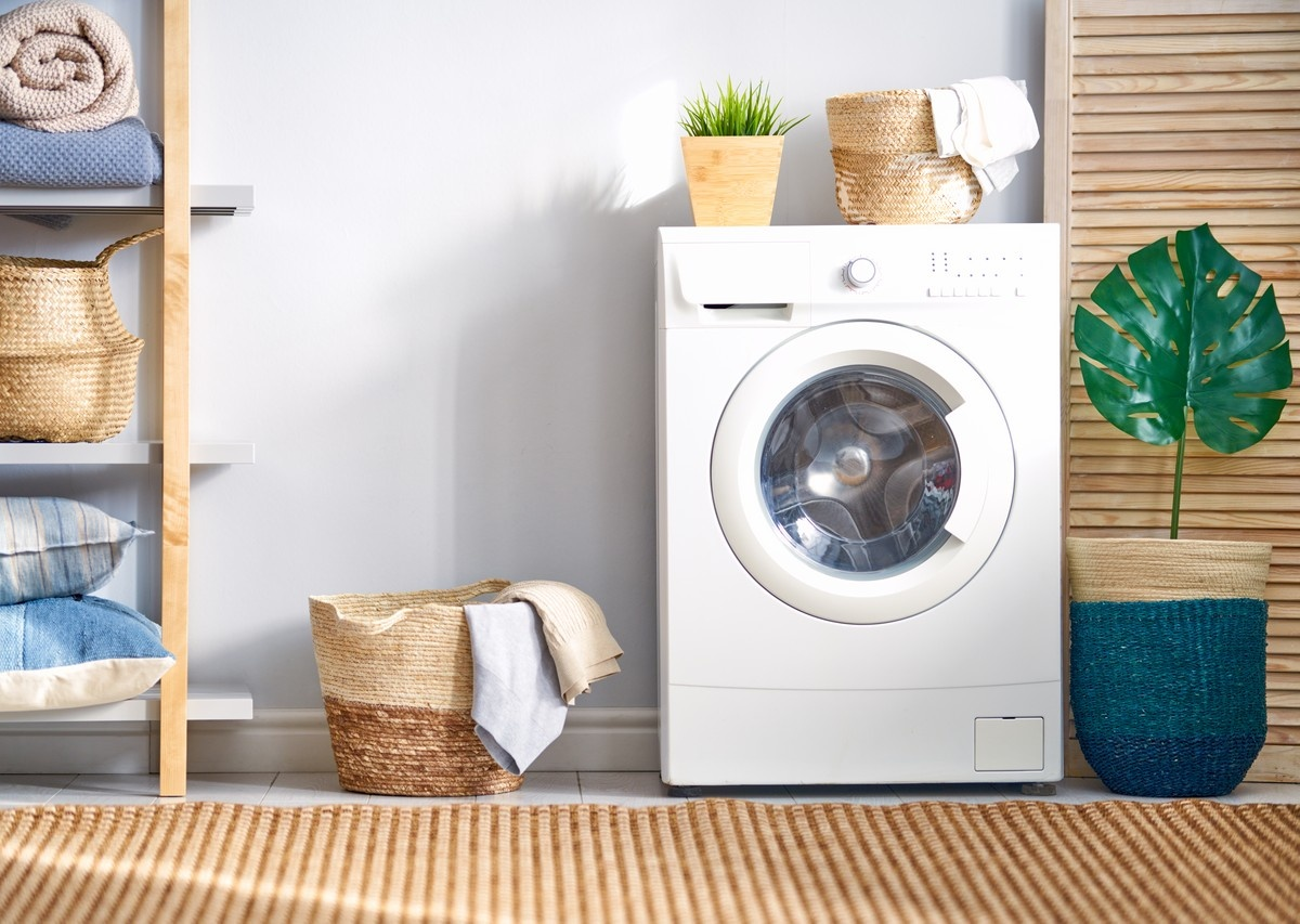Laundry Room Decorating Ideas - Decorate with Baskets