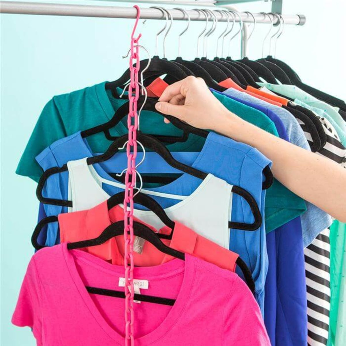 Use Chains and S-Hooks 10 Beautiful DIY Closet Organizers