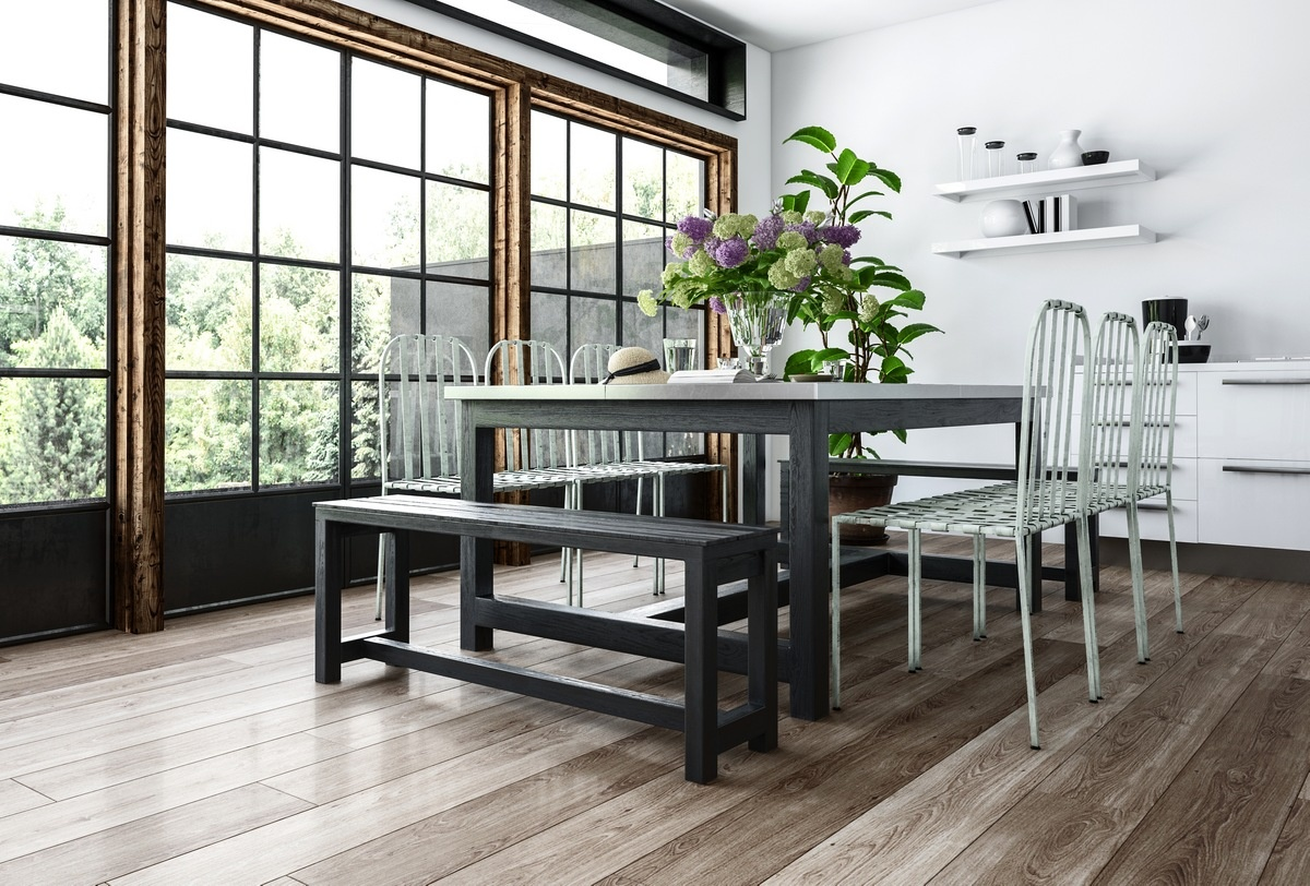 Opt for New Flooring 10 Fabulous DIY Decorating Ideas for Your Dining Room