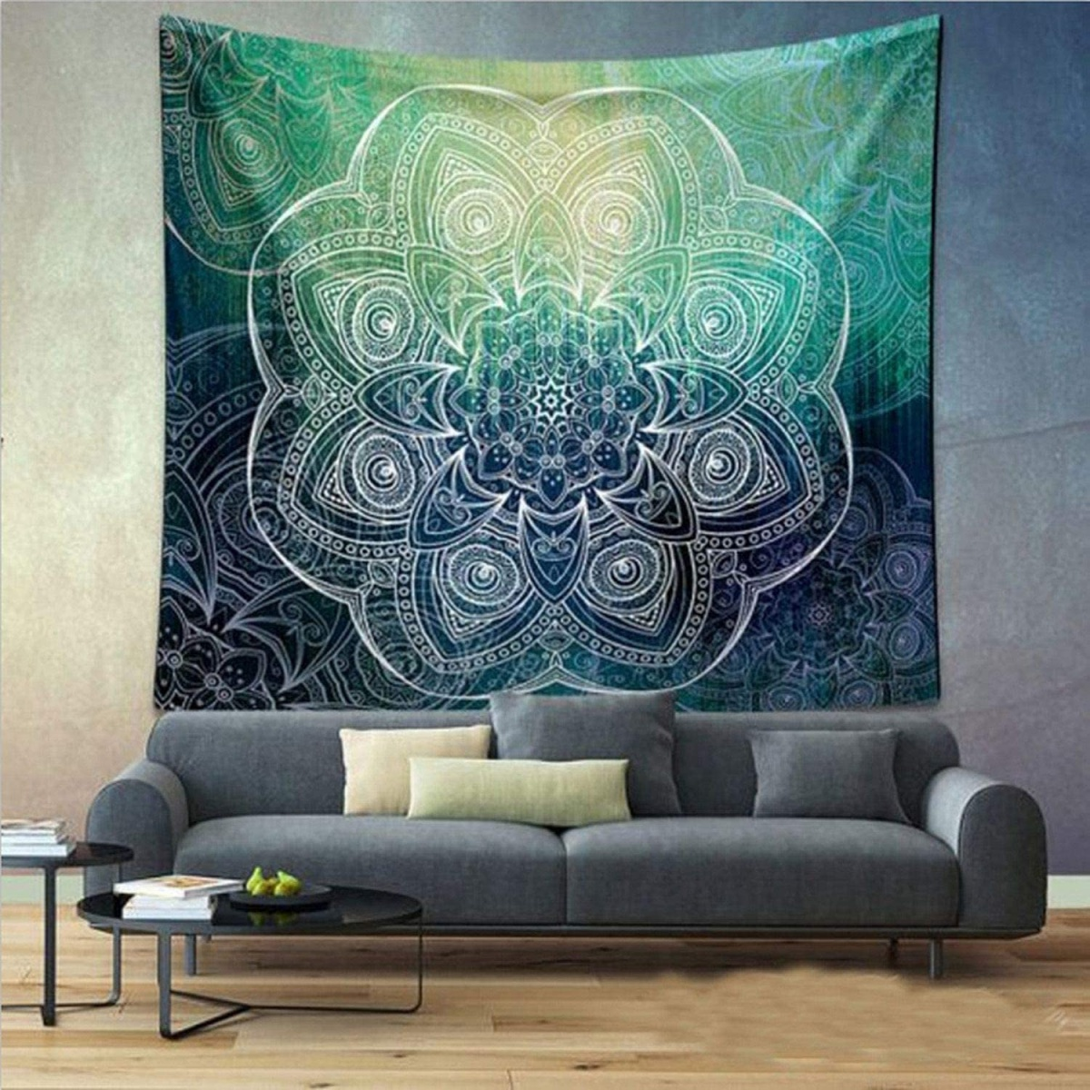 Hang a tapestry or rug