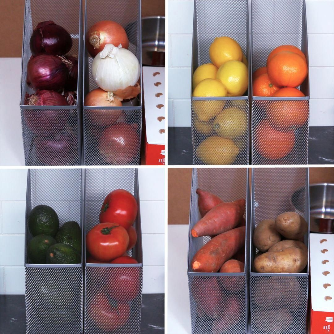 Organize Kitchen Supplies with Magazine Holders 10 DIY Storage Ideas for Your Small Apartment