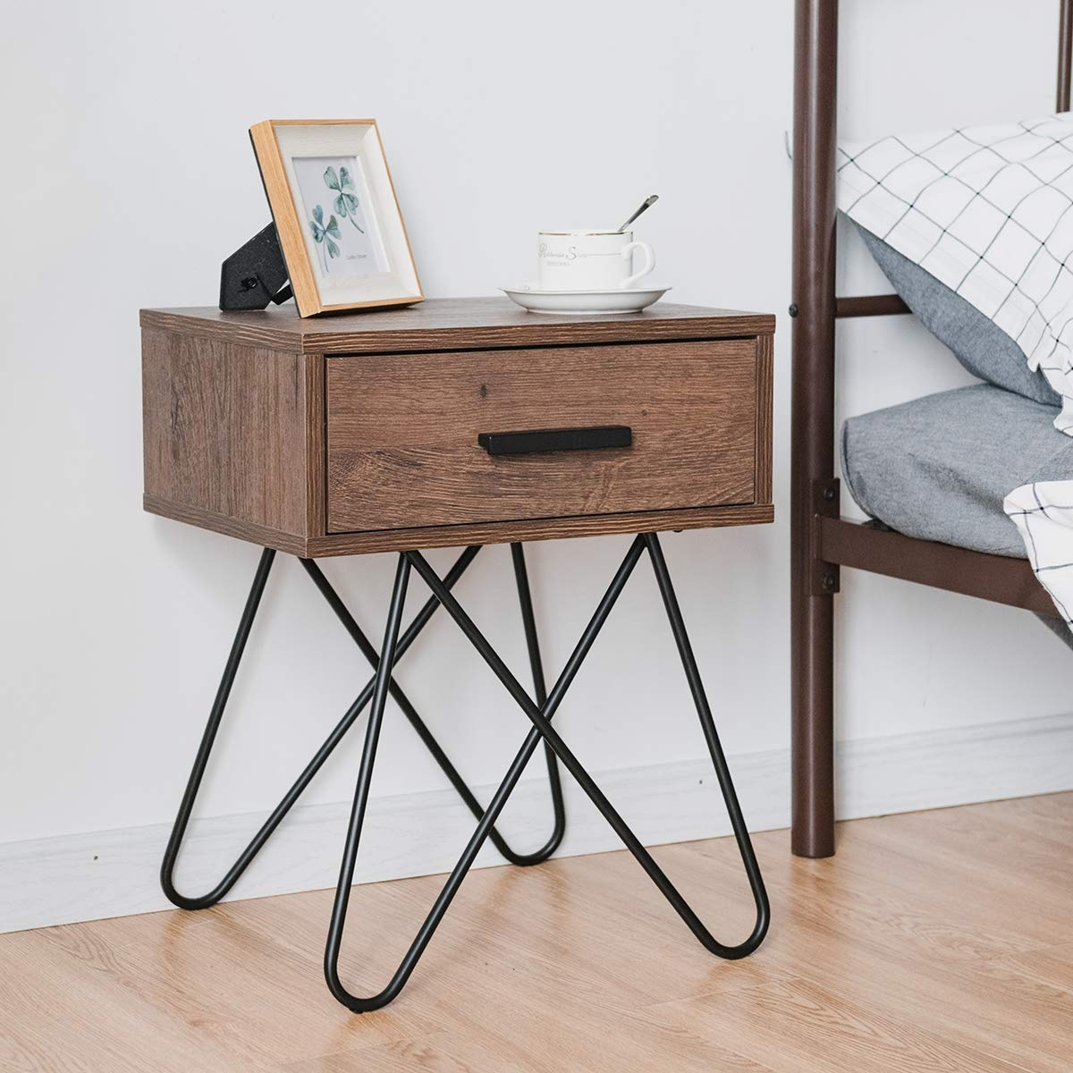 Use an old object as a nightstand