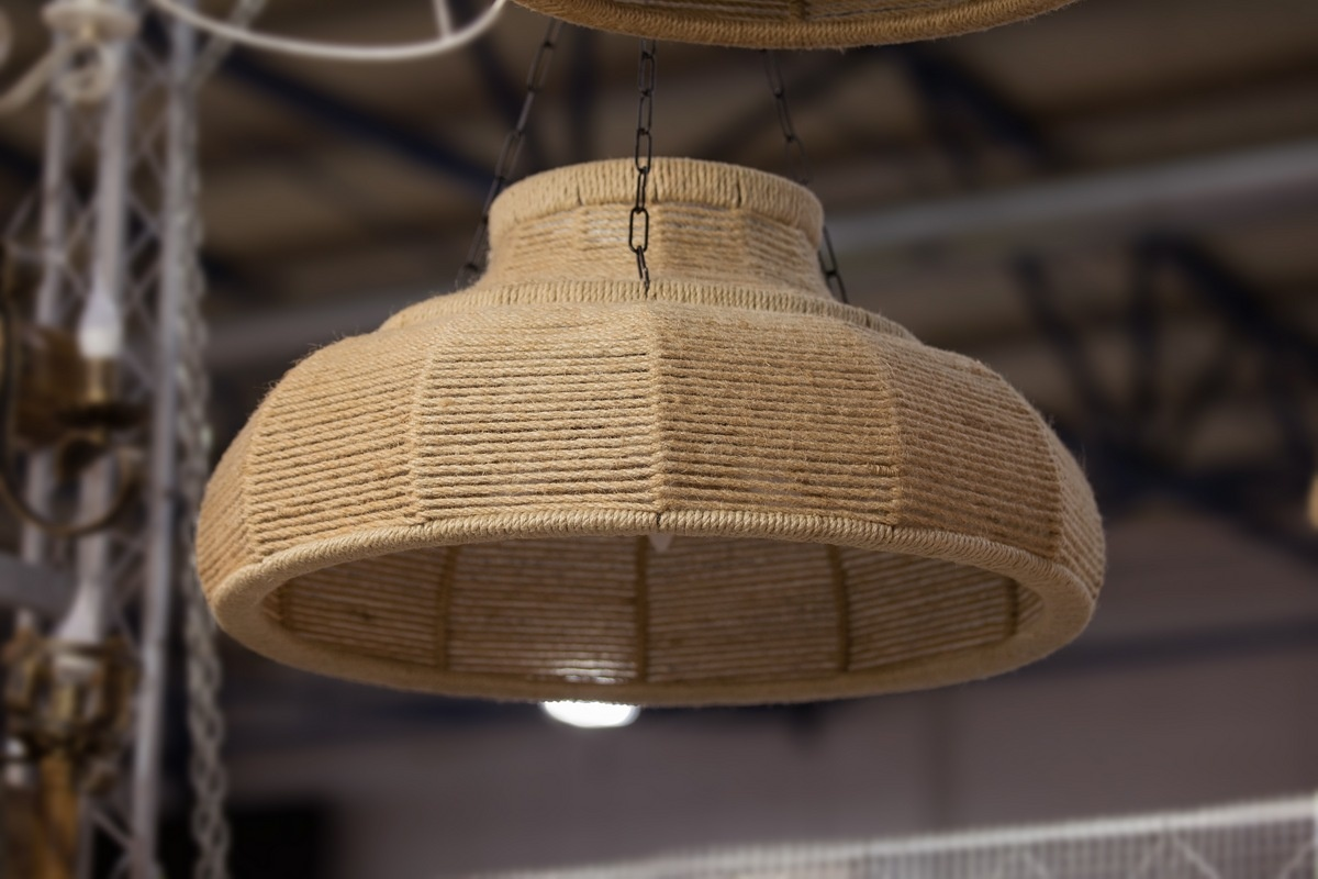 A rope lampshade