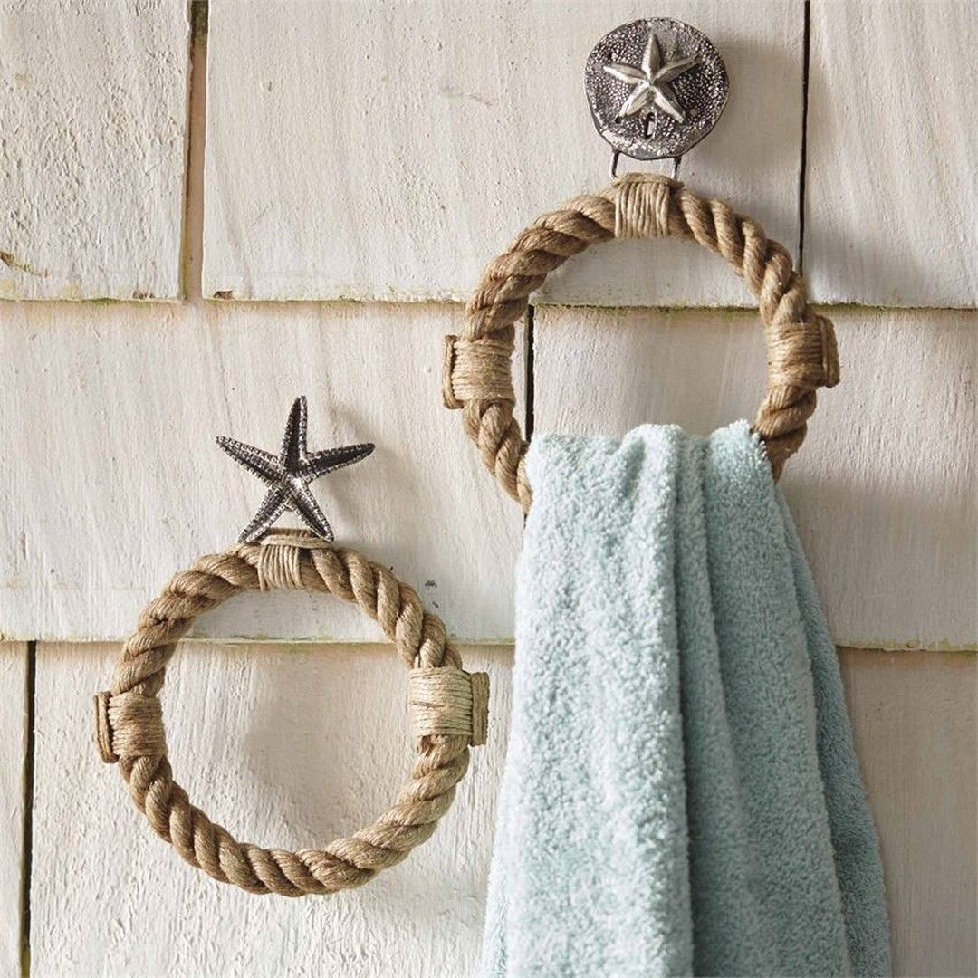 A rope towel holder