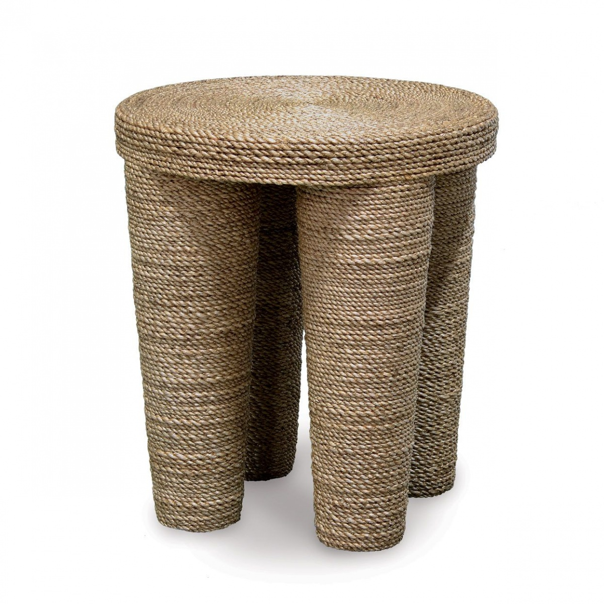 A rope-wrapped stool