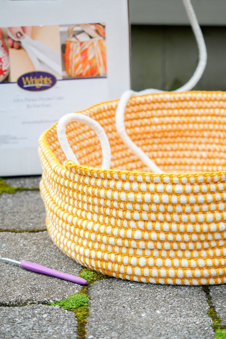 A fabric piping basket