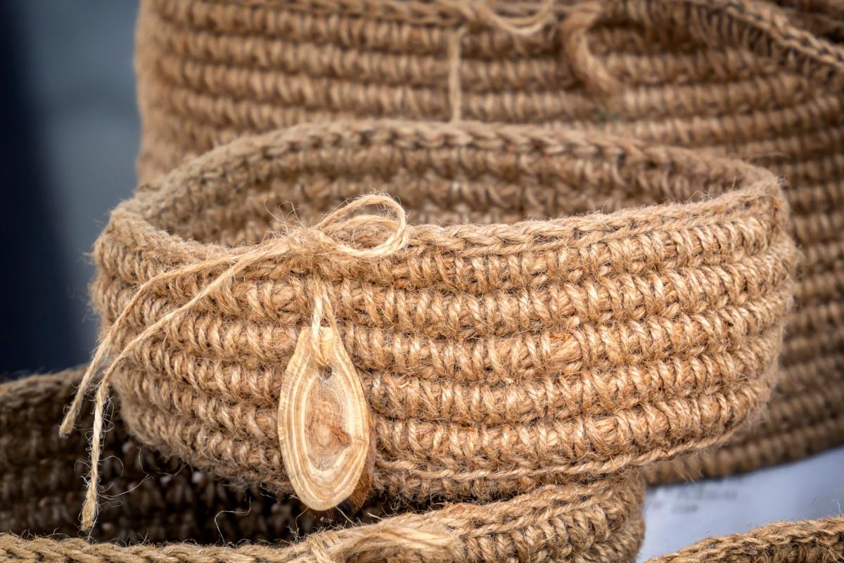 A rope nest basket