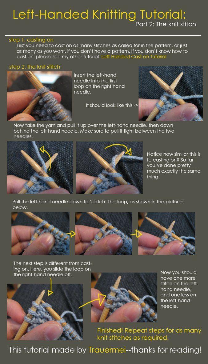 Left Handed Knitting Tutorial