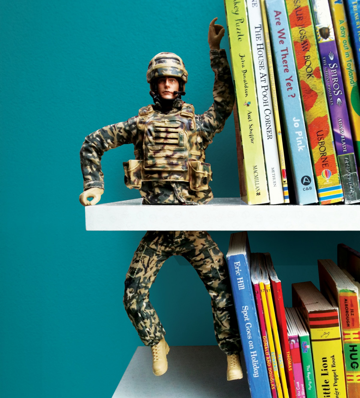The action figure bookend